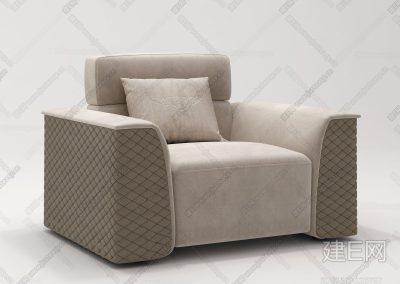 意大利宾利Bentley Home现代单人沙发ID:226757