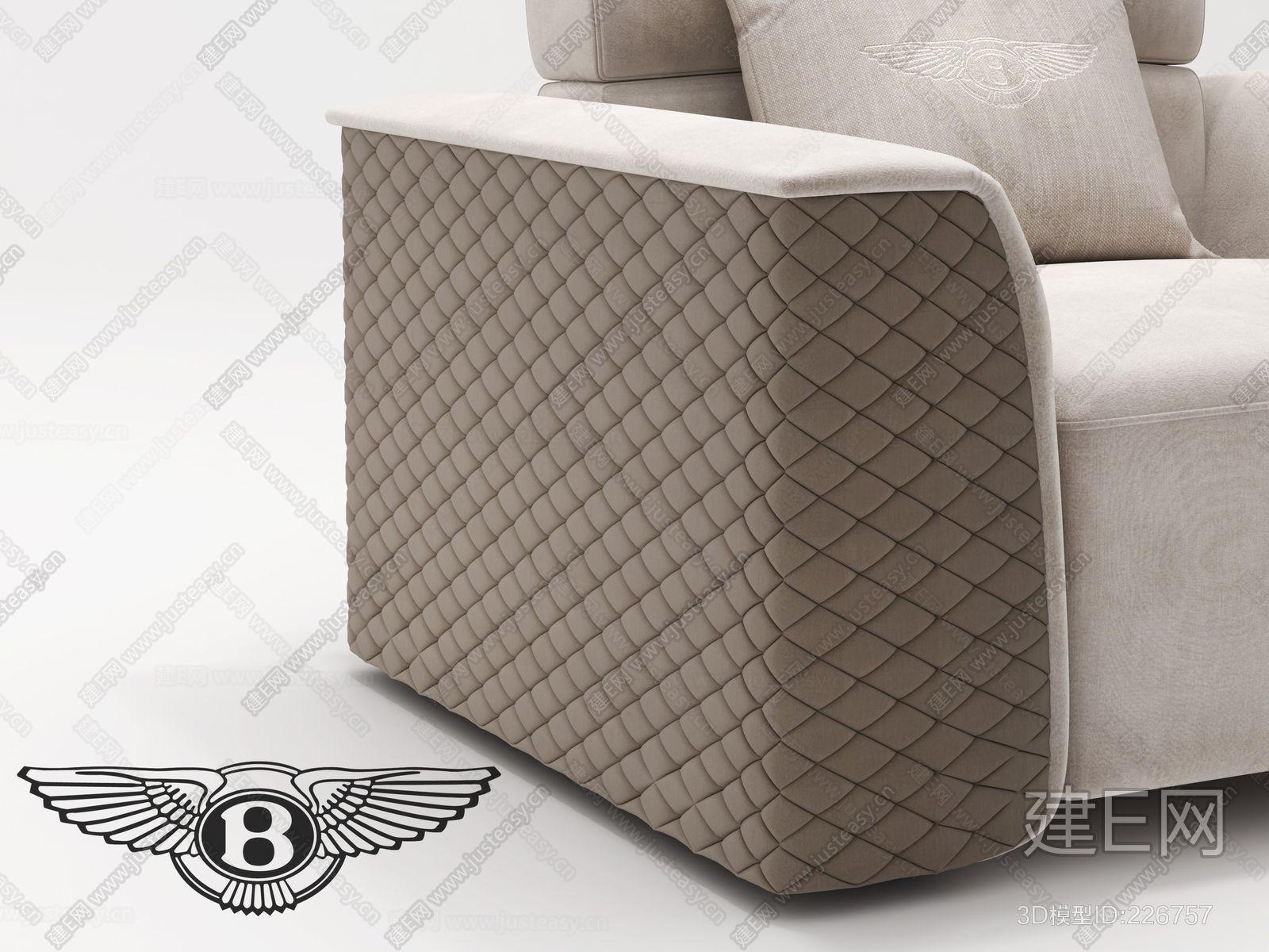 意大利宾利Bentley Home现代单人沙发ID:226757(2)