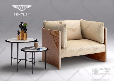 意大利宾利Bentley Home现代单人沙发ID:226948