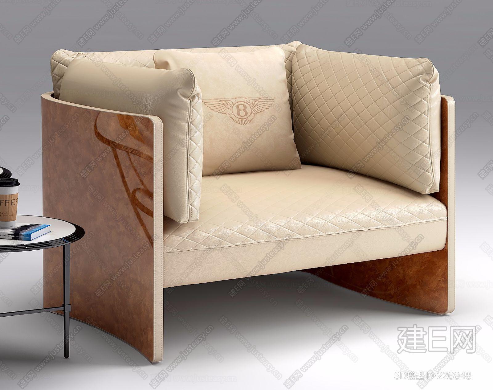 意大利宾利Bentley Home现代单人沙发ID:226948(2)