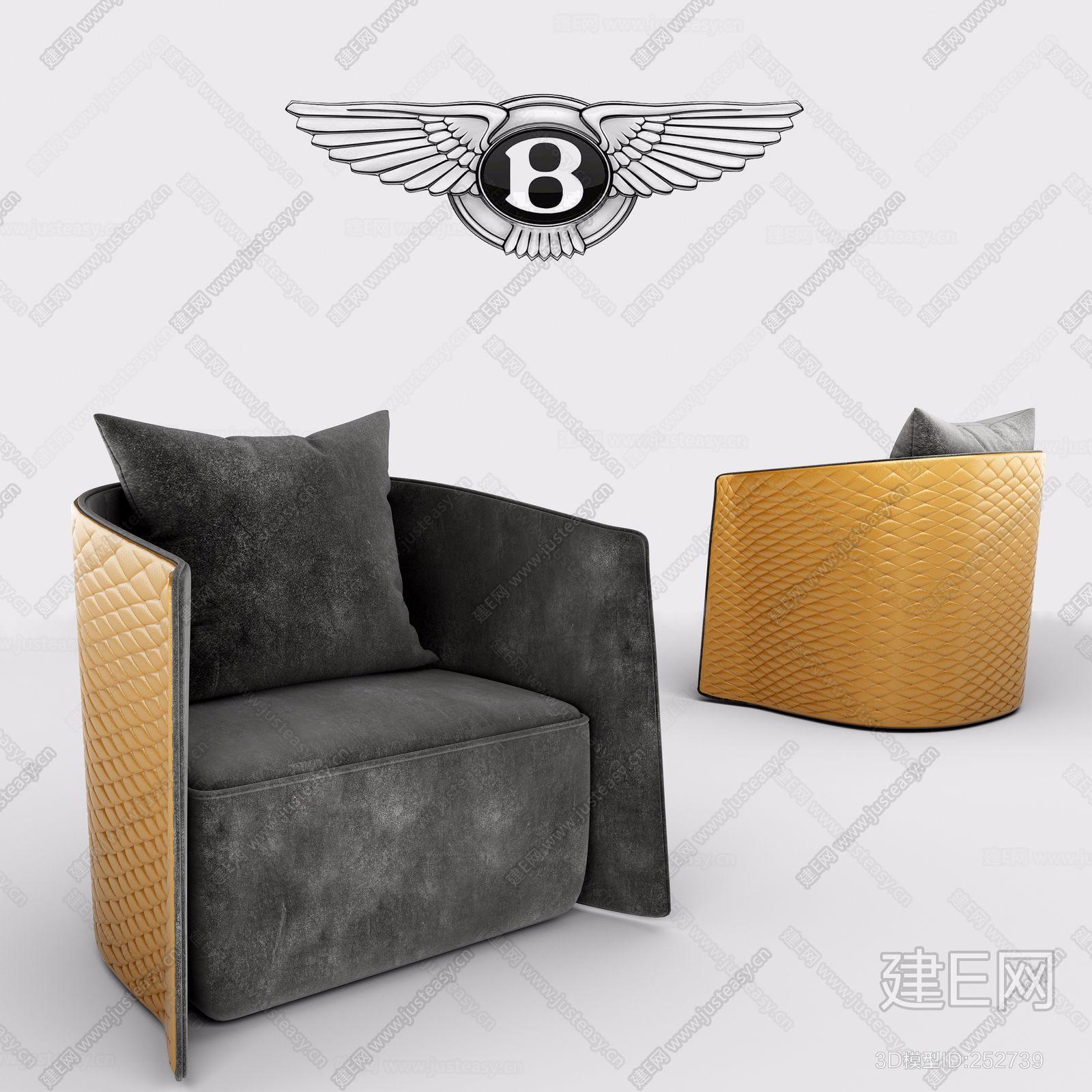 意大利 宾利 Bentley Home单人沙发轻奢高端椅ID:252739