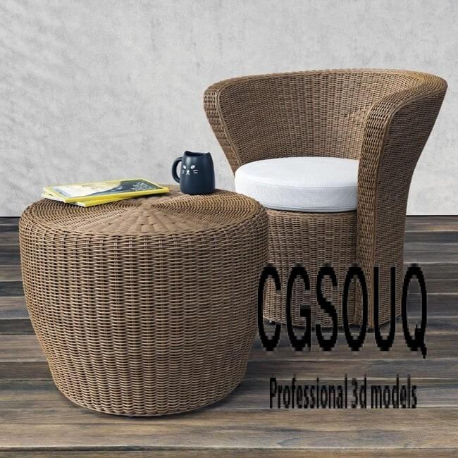 VARASCHIN Bolero Easy Chair Outdoor Furniture 3D model
