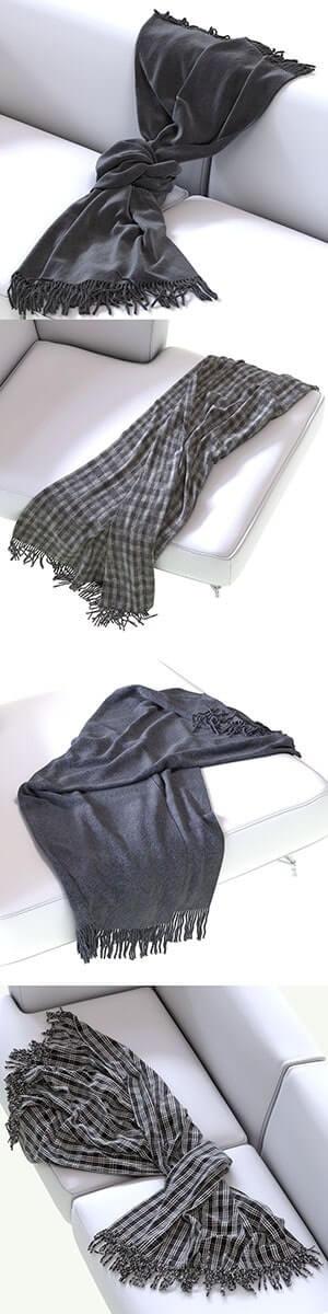 Decor Cloth 3D Model 2