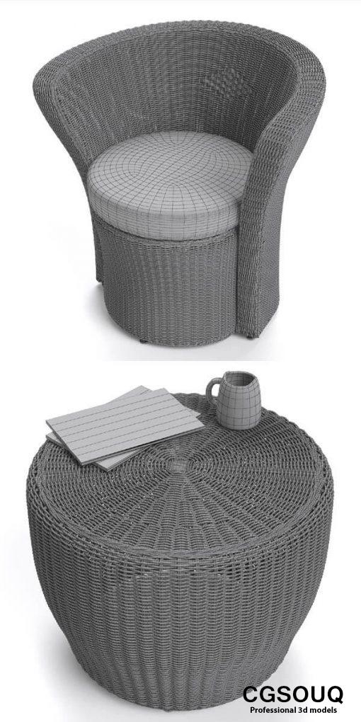 VARASCHIN Bolero Easy Chair Outdoor Furniture 3D model 3