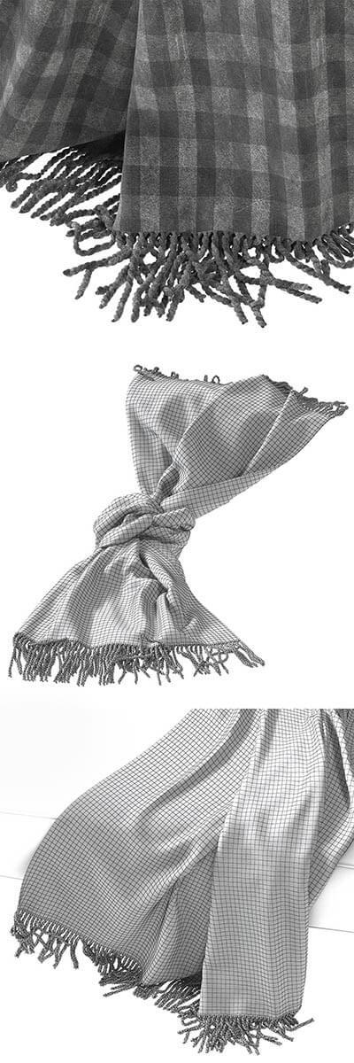 Decor Cloth 3D Model 3