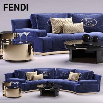 Fendi Sofa 3d Model 1