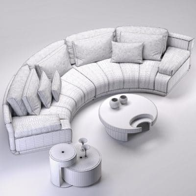 Fendi Sofa 3d Model 3