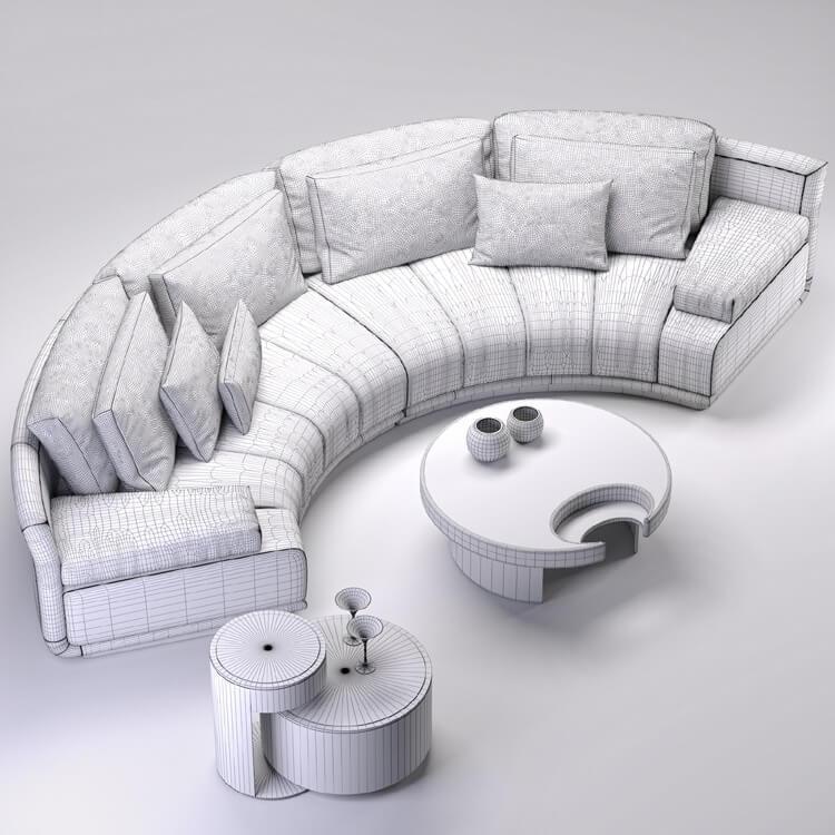 08a0580a5049 Fendi Sofa 3d Model for Download