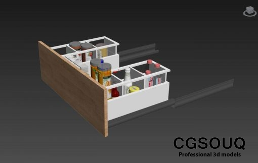 Kitchen full accessories free 3D model 1