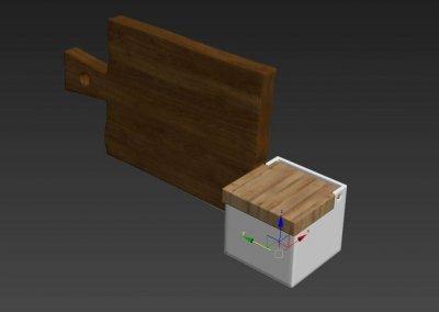 Kitchen full accessories free 3D model 15