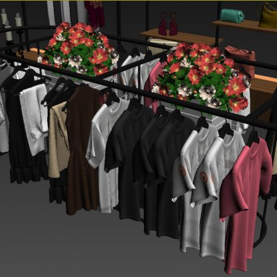 Fashion Shop Interior 3D Model