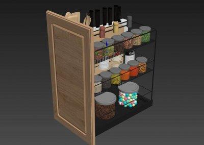 Kitchen full accessories free 3D model 2