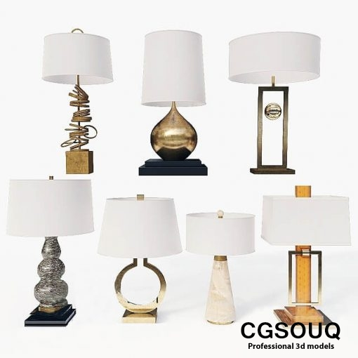 Collection of Table lamps 3D Model