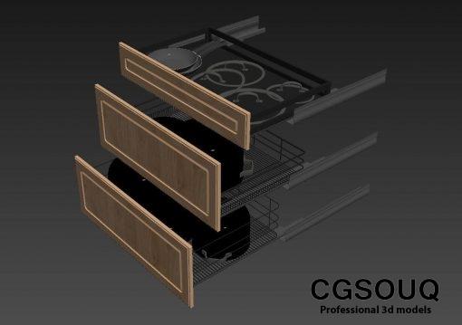 Kitchen full accessories free 3D model 3