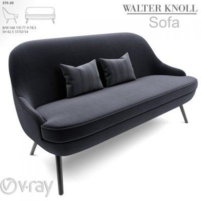 375-Walter Knoll Sofa 3D Model