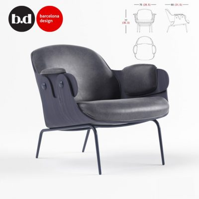 BD Barcelona Design Lounge Armchair 3D Model