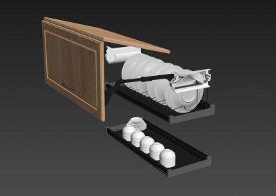 Kitchen full accessories free 3D model 4