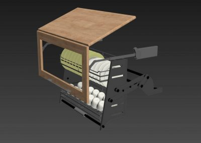 Kitchen full accessories free 3D model 5
