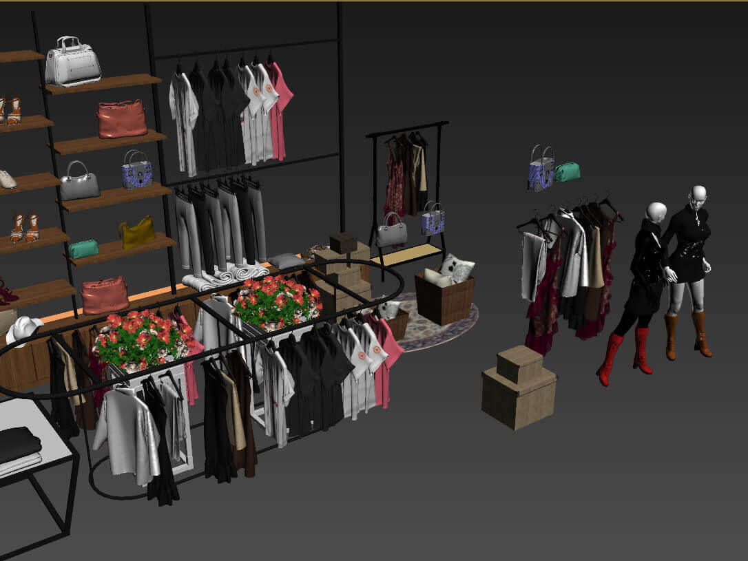 Fashion Shop Interior 3d Model For Download Cgsouq Com