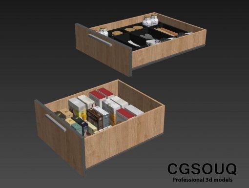 Kitchen full accessories free 3D model 6