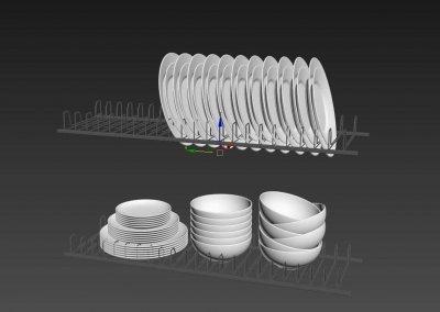 Kitchen full accessories free 3D model 7