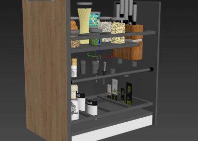 Kitchen full accessories free 3D model 9