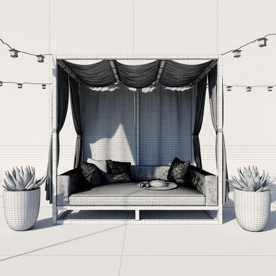 AVIARA CANOPY DAYBED 3D model