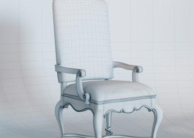 Adagio Upholstered Armchair 3D Model 2