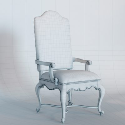 Adagio Upholstered Armchair 3D Model