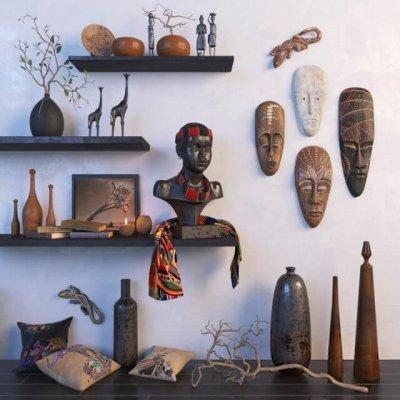 Africa model Sculpture Decor 3D model (2)