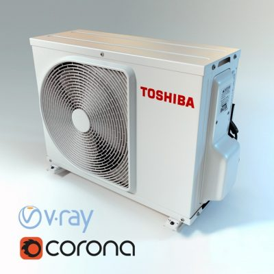 Air conditioner toshiba 3D model