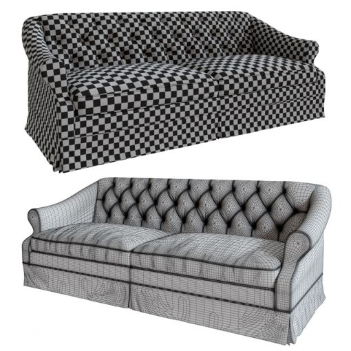 Aldrige Sofa 3D Model 2