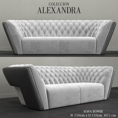 Alexandra Collection Bowie Sofa 3D Model