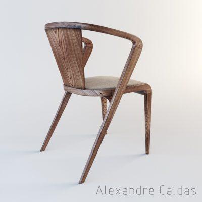 Alexandre Caldas Root Chair 3D Model