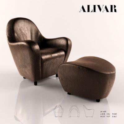 Alivar Fortuna Armchair 3D Model