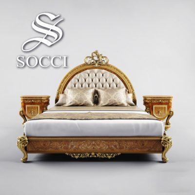 Allure Socci Bed 3D Model