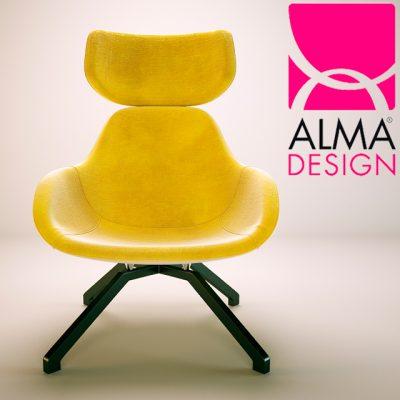 Alma Design X2 Big Armchair 3D Model