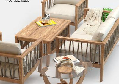 Altinci Cadde Serenity Garden Sofa Set 3D model 1