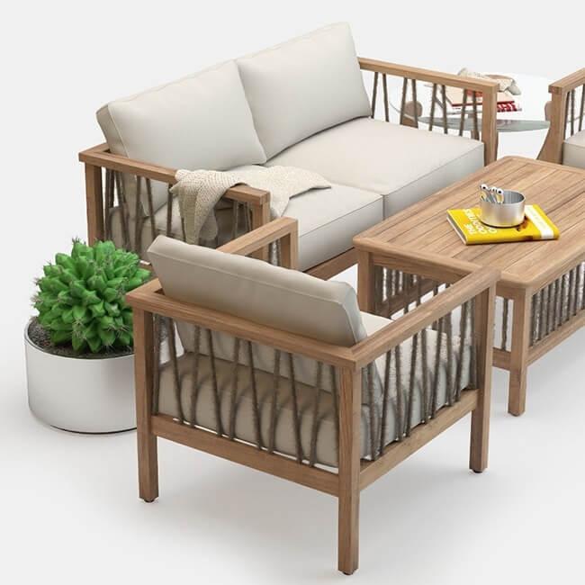 Altinci Cadde Serenity Garden Sofa Set 3D model 2