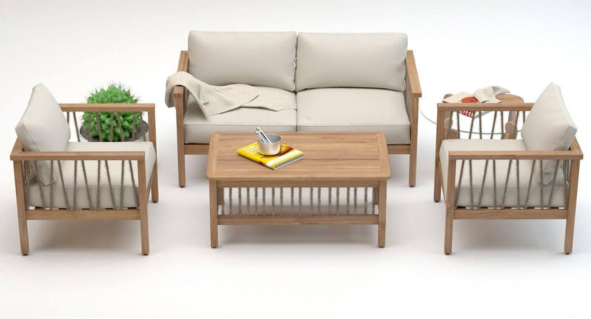 Altinci Cadde Serenity Garden Sofa Set 3D model 3