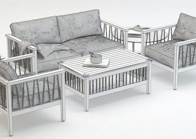 Altinci Cadde Serenity Garden Sofa Set 3D model 6