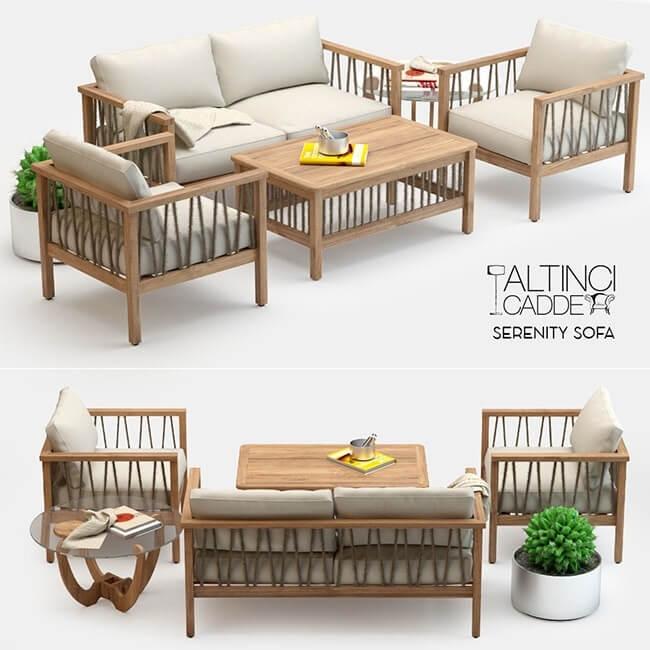 altinci cadde serenity garden sofa set 3d model 7