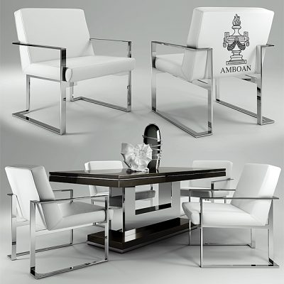 Amboan Event Table & Chair 3D Model