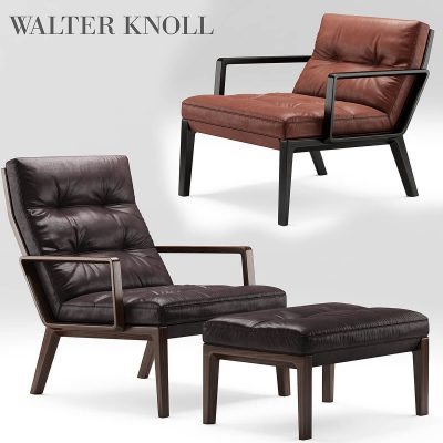 Andoo Lounge Walter Knoll Armchairs 3D model (1)