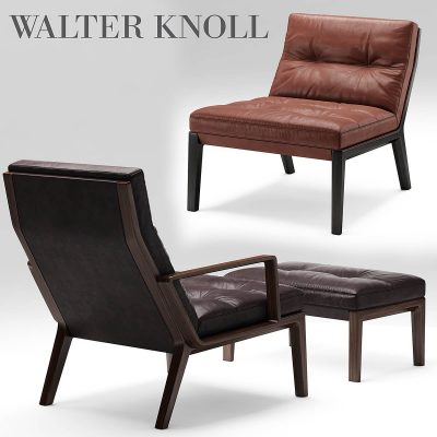 Andoo Lounge Walter Knoll Armchairs 3D model (2)