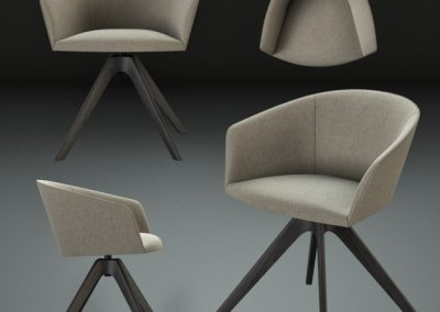 Andreu World Brandy Chair 3D Model 2