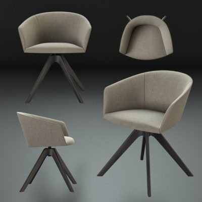 Andreu World Brandy Chair 3D Model