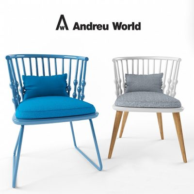 Andreu world nub Chair 3D model 01