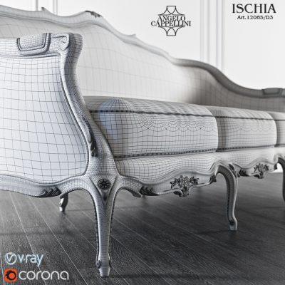 Angelo Cappellini Ischia Sofa 3D Model