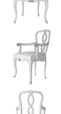 Angelo Cappellini Opera 30088 Chair 3D Model
